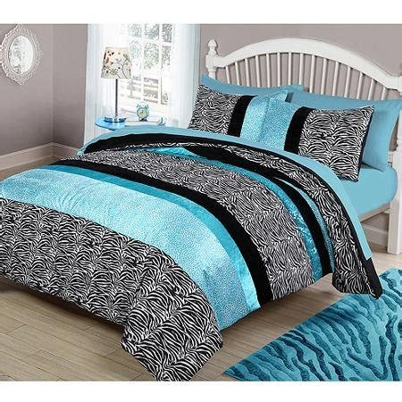Teal And Black Comforter Set by Teal And Black Bedding