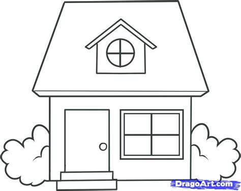 Drawing A House | how to draw a house for kids step by step buildings