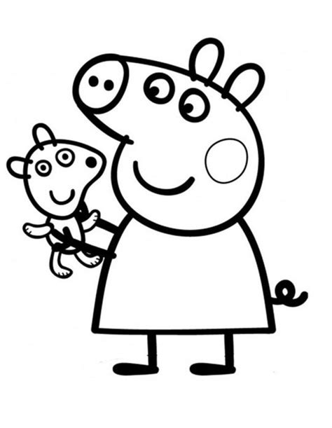 peppa pig valentines coloring pages peppa pig para colorear pintar e imprimir
