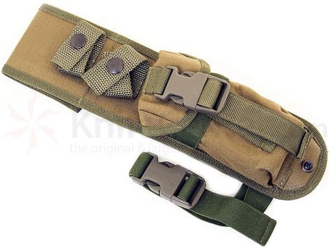 k bar molle sheath esee knives versatile cordura molle sheath khaki