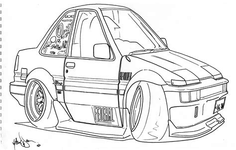 coloring pages drifting cars gallery car caricature drawing drawing gallery