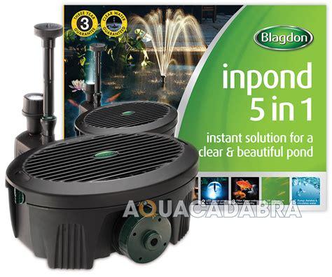 Maskara Ponds 2 In 1 blagdon inpond 5 in 1 6 in 1 pond filter uvc led light submersible fish ebay