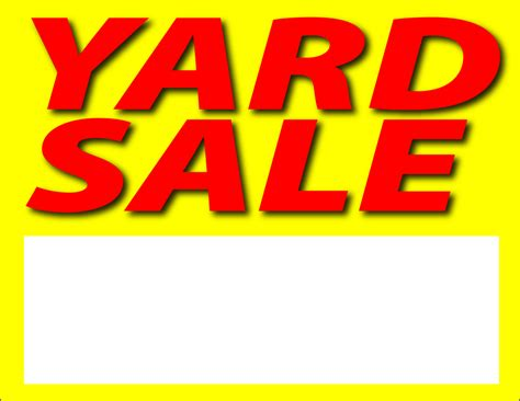 xvon image yard sale poster template