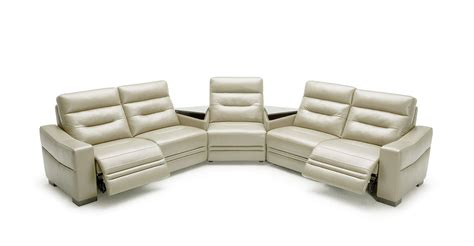 Gray Sectional Sofa With Recliner Modern Grey Leather Sectional Sofa W Recliners And Consoles