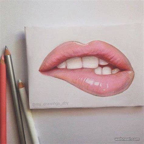 Lip Colour Pencil Make lip color pencil drawing by my drawings aby image