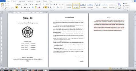 format makalah kelompok habib wisnu pratama h w p contoh format kerangka makalah