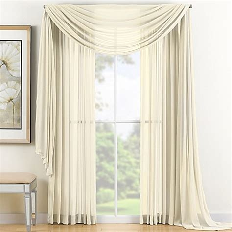 120 curtain panel buy reverie 120 inch sheer window curtain panel in ivory