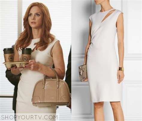 From Suits Wardrobe by Shop Your Tv Suits Season 5 Episode 2 Donna S Cut Out Dress