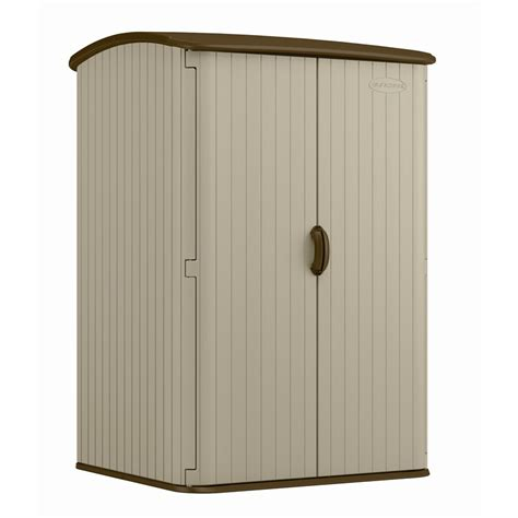 Suncast Vertical Garden Shed Suncast 1 42 X 1 23 X 2 02m Resin Vertical Storage Shed