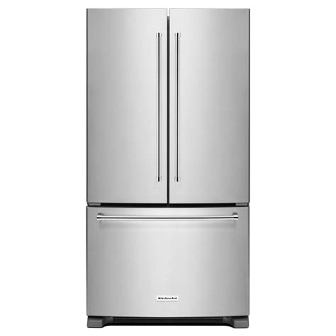 door refrigerator counter depth reviews kitchenaid 20 cu ft door refrigerator in