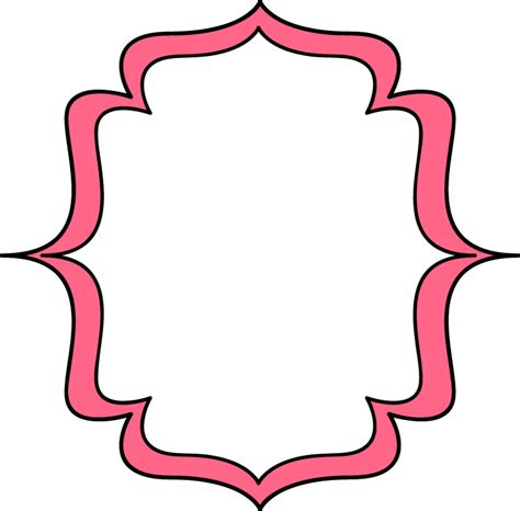 clipart frame page pink bracket frame free clip frames