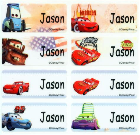 Cars Label Stiker Botol cars m label sticker school supply daycare c personalized