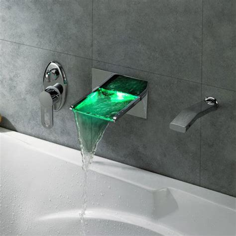 led waterfall bath tub faucet shut up and take my money