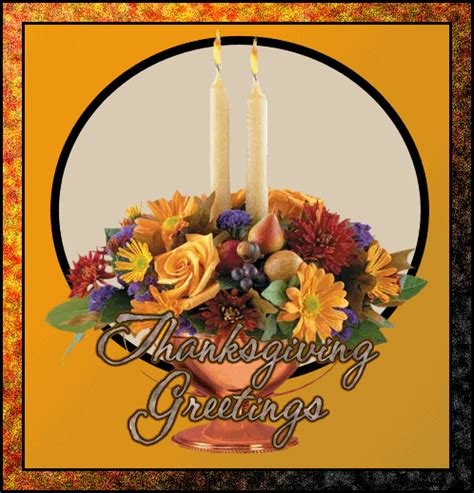 thanksgiving greetings floral with candles animated gif 9017 animate it