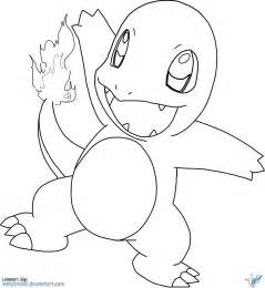 charmander coloring page charmander by vanysensei lineart by vanysensei on deviantart