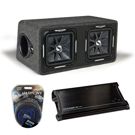 Speaker Subwoofer Kicker kicker car audio loaded dual 12 quot ds12 solobaric l7 subwoofer box sub enclosure with zx1500 1