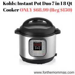 instant pot duo80 8 qt 7 in 1 kohls instant pot duo 7 in 1 8 qt cooker only 68 99