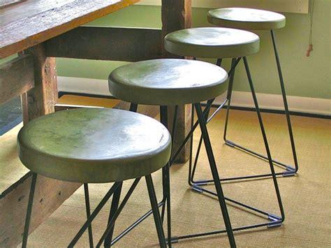 Handmade Bar Stools - industrial coleman bar stool concrete steel handmade