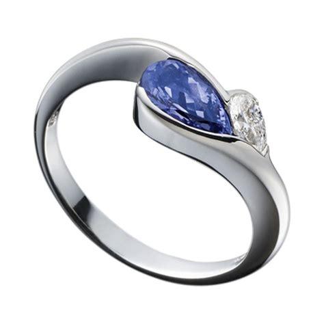 platinum pear shaped tanzanite and ring
