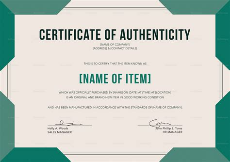 certificates of authenticity templates certificates of authenticity templates images avery