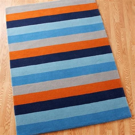 orange patterned rug 4 x 6 bold stripe rug blue orange in patterned rugs the land of nod baby hinson