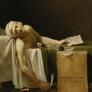 painting of dead man in bathtub the death of marat and the death of art the charnel house