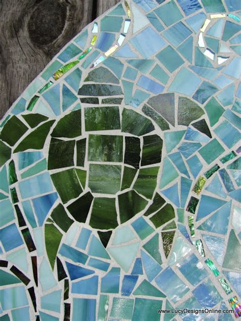 stained glass turtle l mosaic surfboard stained glass wave palm tree