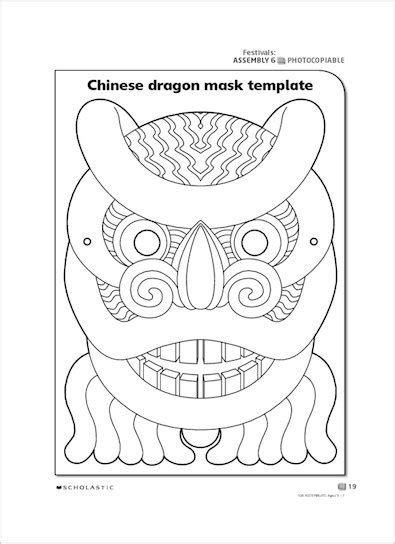 new year mask template mask template scholastic shop