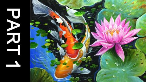 remove acrylic paint on canvas paint koi fish with acrylic on canvas part 1