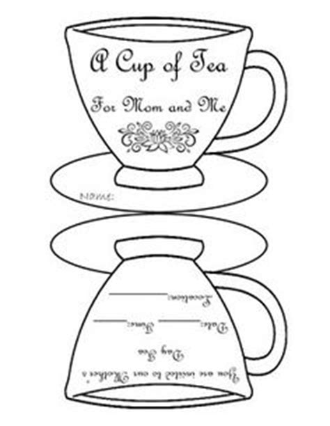 tea place cards template free printable tea cup template collage scrapbooking