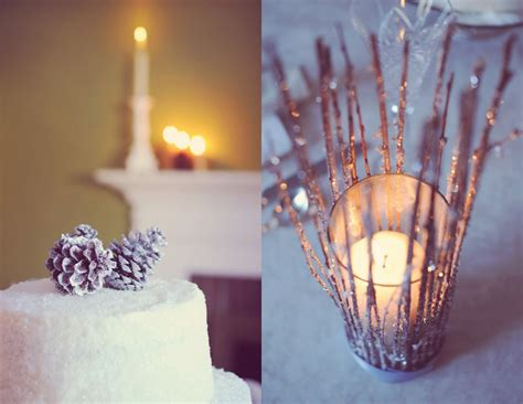 diy winter wedding centerpieces diy winter wedding details