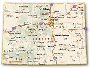 county colorado map colorado counties maps cities towns color
