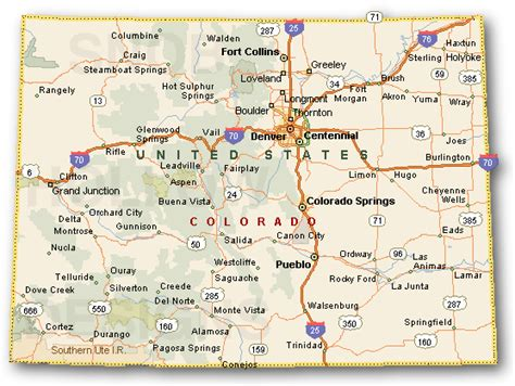 colorado map with cities colorado counties maps cities towns color