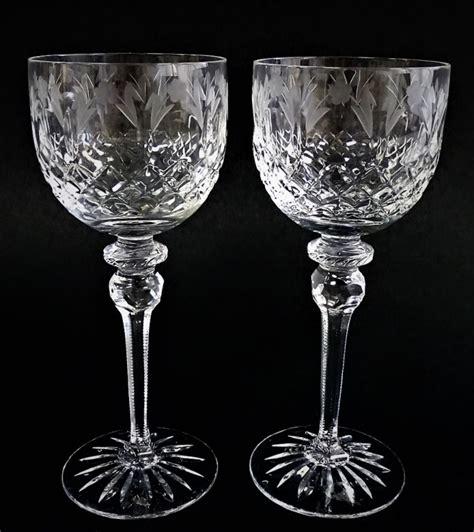 fine crystal barware pr rogaska fine etched crystal stemware glasses
