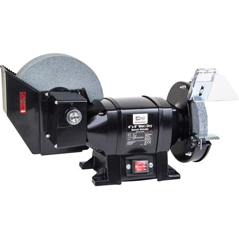 wet and dry bench grinder sip 07576 373w 8 quot x 6 quot wet dry bench grinder 230v