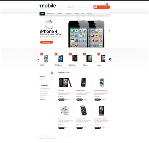 mobile store zencart template 32793
