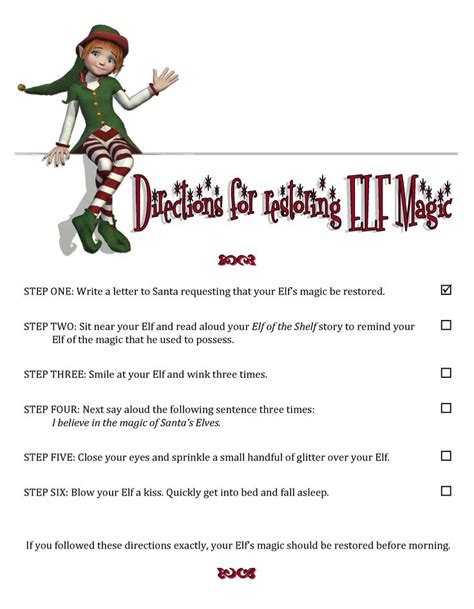 elf on the shelf printable instructions pin by kaelin thacker on elf on the shelf pinterest