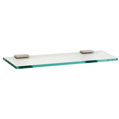 18 glass bathroom shelf satin nickel glass shelf 18 quot knobs n knockers