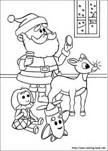 rudolph red nosed reindeer coloring picture
