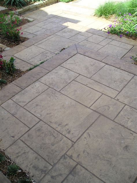Glass Block Bathroom Designs Stamped Concrete Patterns Patio Traditional With Ashlar
