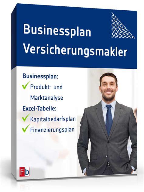businessplan versicherungsmakler