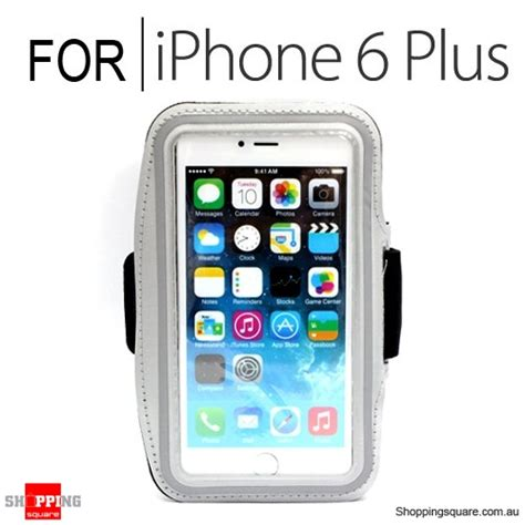 sports armband for iphone 6 plus 6s plus 5 5 inches silver colour shopping