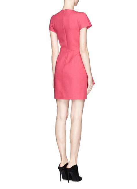 drape wrap dress valentino crepe couture drape pleat wrap dress in pink lyst