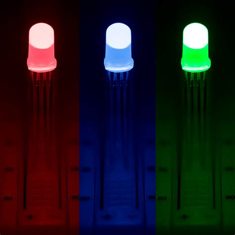 lade rgb 5mm diffused tri color led rgb t1 3 4 led w 15 degree