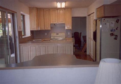 image pickled oak kitchen cabinets