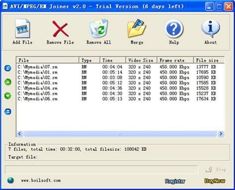 boilsoft video joiner full version free download boilsoft video joiner 8 01 download videohelp