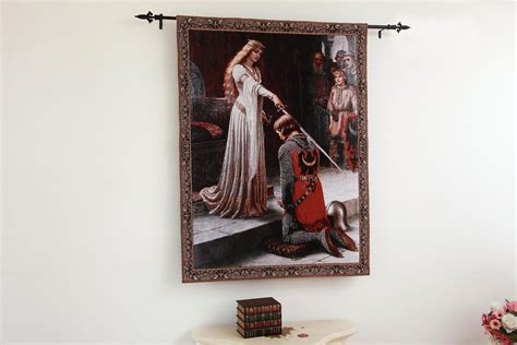 knight home decor the accolade medieval knight fine art tapestry wall