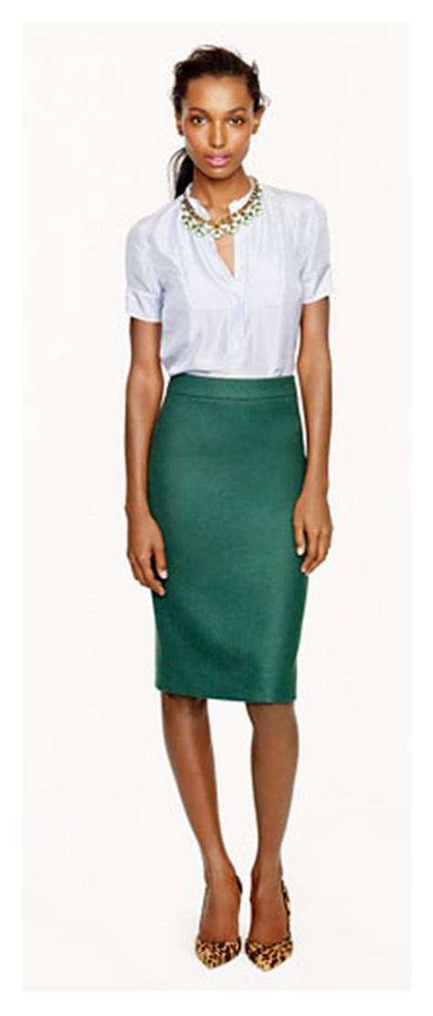 emerald pencil skirt great fall with a sweater and