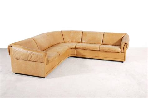 Large Cognac Leather Danish Corner Sofa 1970s For Sale At Large Leather Corner Sofa