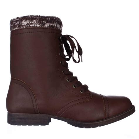 rage jeliana combat boots in brown lyst